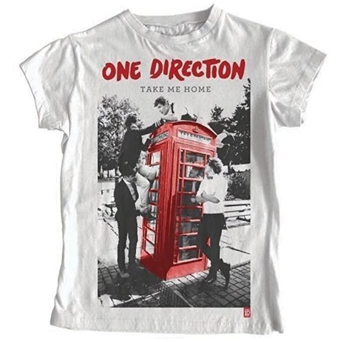 49cb07c4e One Direction Ladies T-Shirt: Take Me Home (White, Skinny Fit) Size:  X-Large: Amazon.co.uk: Shoes & Bags