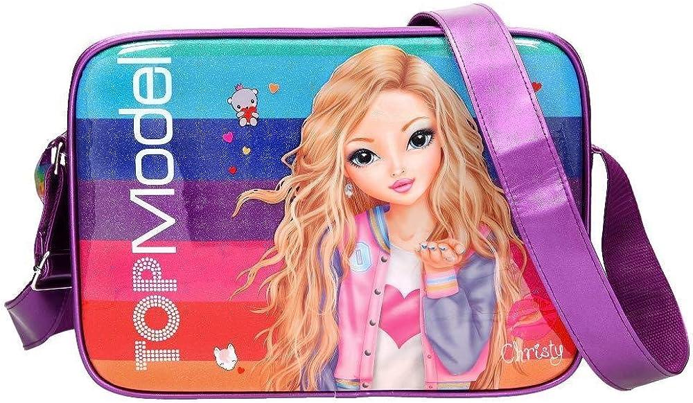 Top Model Bolso Bandolera Topmodel Friends Purpurina Bolso Bandolera, 40 cm, Multicolor