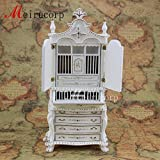 Dollhouse 1/12 scale miniature furniture Elegant hand painted collection cabinet
