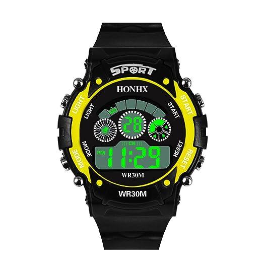 Dylung Reloj para Hombre Deportivos Reloj de Pulsera de Hombres Relojes de Moda con Cuarzo Japonés Unisex Reloj Digital Inteligente Multifunciónal ...