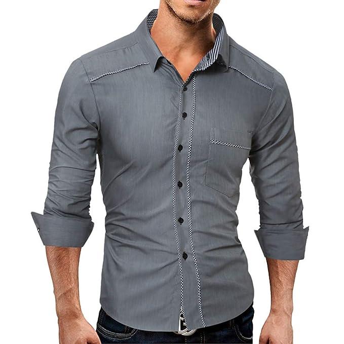 Legere Hemden Hemden Neue Mode Männer Mode Herbst Shirt Einfarbig Männlichen Casual Langarm Shirt Topst Shirt Männer