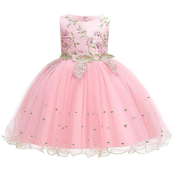 Baiomawzh Vestido de Niñas Vestidos Princesa Sin Mangas Falda Skirt ...