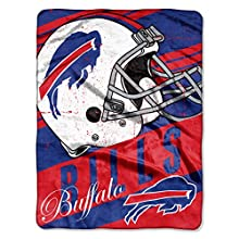 "NFL Buffalo Bills ""Deep Slant"" Micro-Raschel Throw, Blue, 46 x 60-Inch"