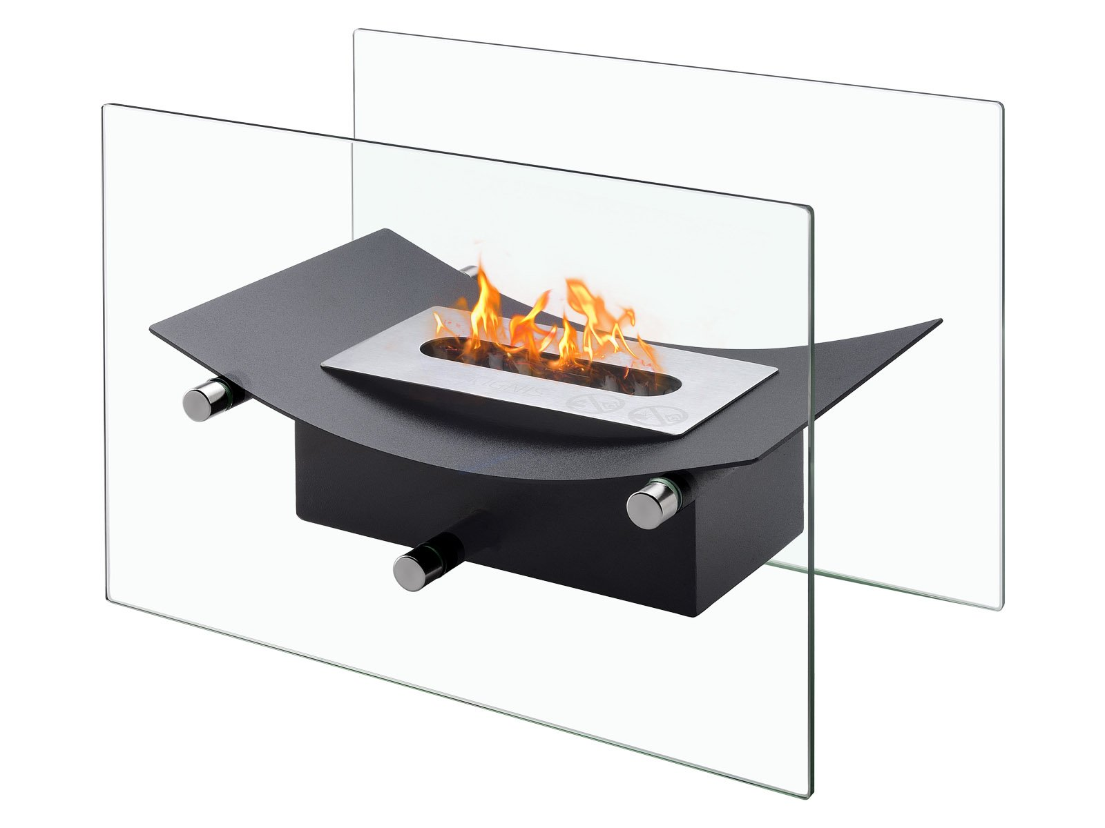 Ignis Verona - Ventless Tabletop Bio Ethanol Fireplace, Portable Fireplace (Black) by Ignis