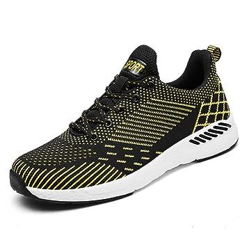 WDDGPZYDX Zapatos de Marca para Hombre Moda Ligeras y cómodas Zapatillas de Deporte Transpirables Zapatos Casuales Masculinos Aumentar tamaño 47 Seis ...