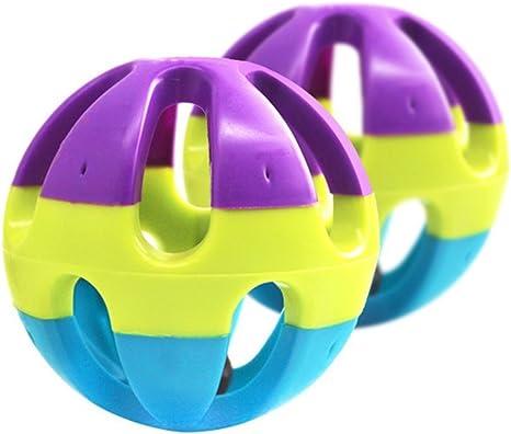 Gulake Pelota de plástico para mascotas con cascabel para hamster ...