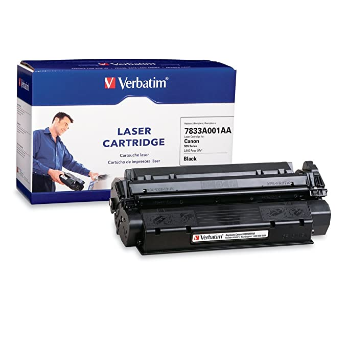 Verbatim 7833A001AA Black Rplc Laser Cartridge for Canon S-35 Series 3500PGS