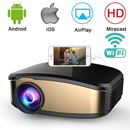 Amazon.com: Mini proyector HWUKONG, WiFi Video Keystone ...
