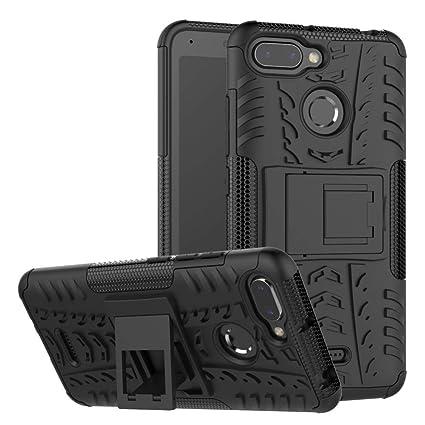 Xiaomi Redmi 6 6A Cover Hybrid DWaybox Rugged Heavy Duty Armor Hard Back Cover Case with Kickstand for Xiaomi Redmi 6/Redmi 6A 5.45 Inch (Black)