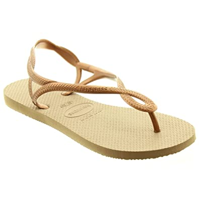 d0f8dc265 Havaianas - Ladies Luna Sling Toe Post Sandals in Rose Gold
