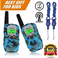 Walkie Talkies Kids Two Way Radio Wireless Interphone 22 Channel FRS GMRS Durable Toy Handheld Walkie Talkie 2 Miles Long Range Battery Operated Boy Gift for Outdoor Adventures Camping and Hiking Camo