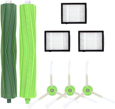 Subtop Reemplazo del Kit de Filtro y Cepillo Lateral y Cepillo de Rodillo Compatible iRobot Roomba i7 i7+/i7 Plus E5 E6 E7 Robot Aspirador (Paquete A): Amazon.es: Hogar