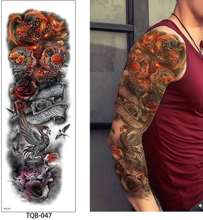 adgkitb 2 Piezas Brazo Tatuaje Temporal Pegatina Colorido Falso ...