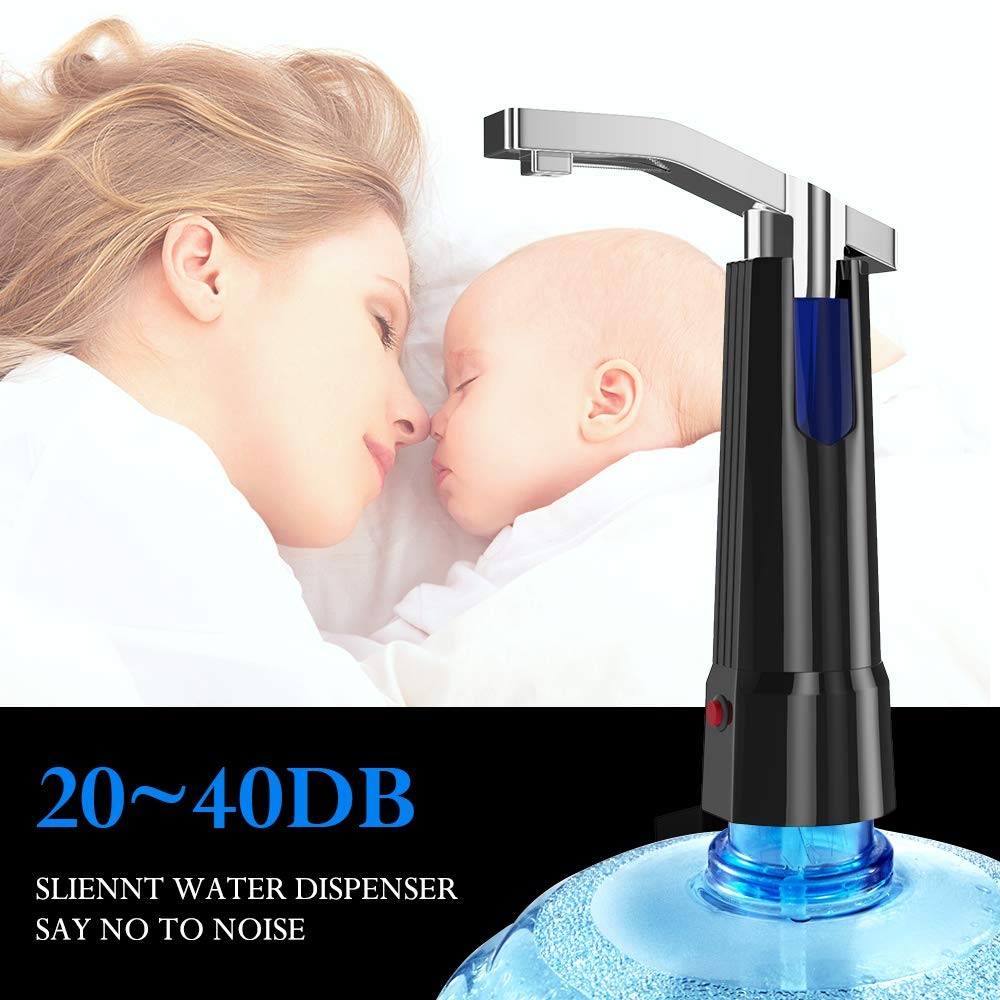 Water Pump Dispenser BMK Electric Gallon Drinking Bottle Water Dispensing Pump with On/Off Switch & Touch Button 2 Working Modes for Home Kitchen Office by BMK BLUEMICKEY (Image #5)