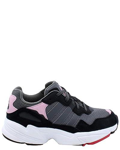 size 40 57b19 ce1b5 adidas Originals Kids Unisex Yung-96 J (Big Kid) Grey Light Pink