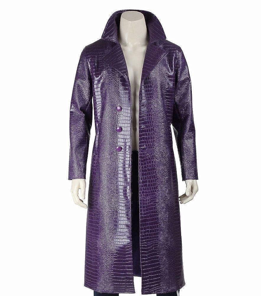 Amazon.com: Joker - Chaqueta de piel sintética, color morado ...