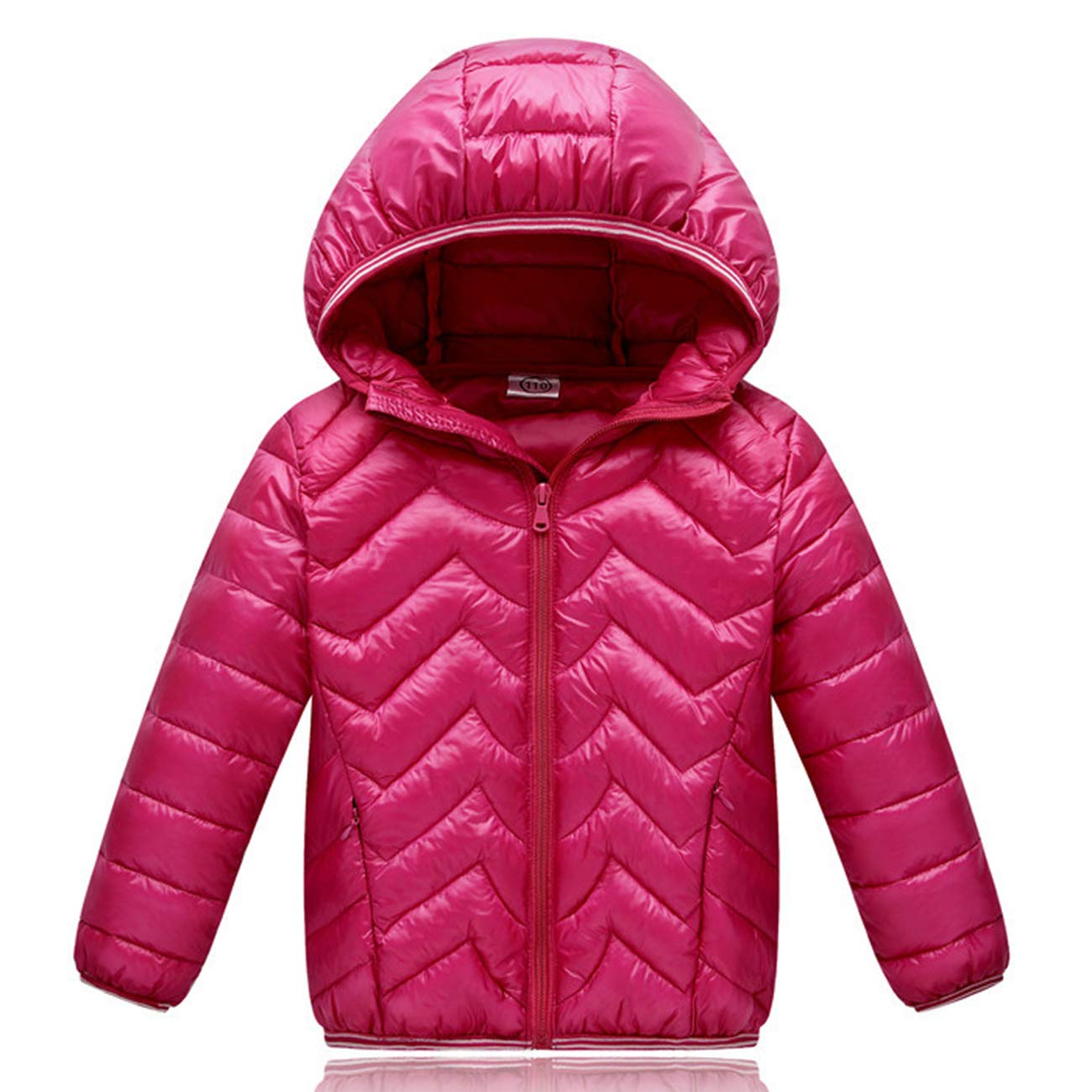 JIEEN Toddler Kids Girls Boys Coat Lightweight Puffer Down Coat Jacket,3-8 T