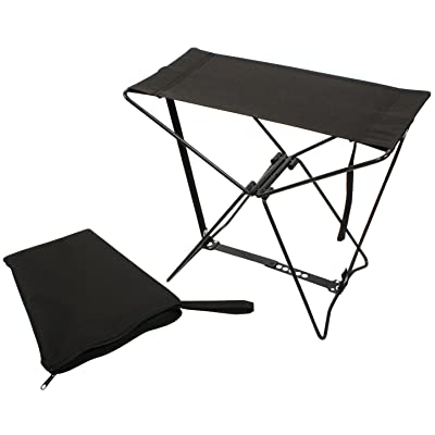 Rothco Folding Camp Stool, Black : Pocket Chair : Sports & Outdoors