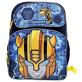 "Transformers""Bumblebee"" Large Dark Blue Boys' School Backpack"