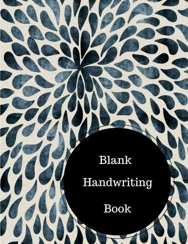 Blank Handwriting Book: Preschool Letter Writing Worksheets. Large ...