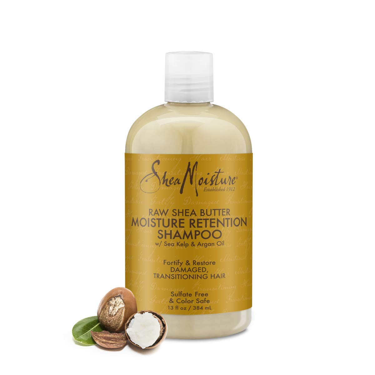 SheaMoisture Moisture Retention Shampoo for Dry, Damaged or Transitioning Hair Raw Shea Butter to Hy…