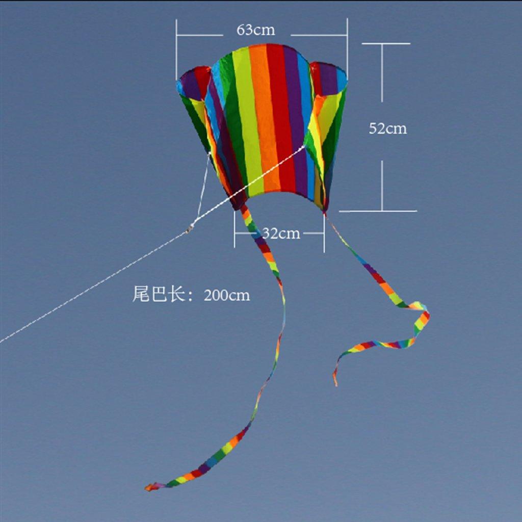Cometa de parafoil con colas de cometa blanda para dar 30 m de l/ínea de cometa Vivitoch