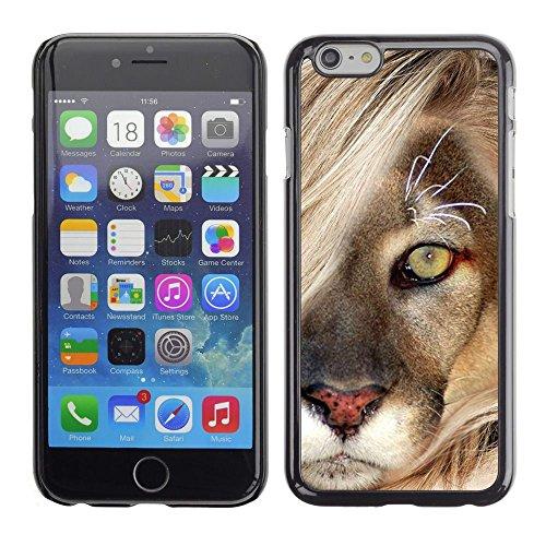 TopCaseStore / caoutchouc Hard Case Housse de protection la Peau - Mane Lion Cub Feline Big Cat Nature - Apple iPhone 6 Plus 5.5