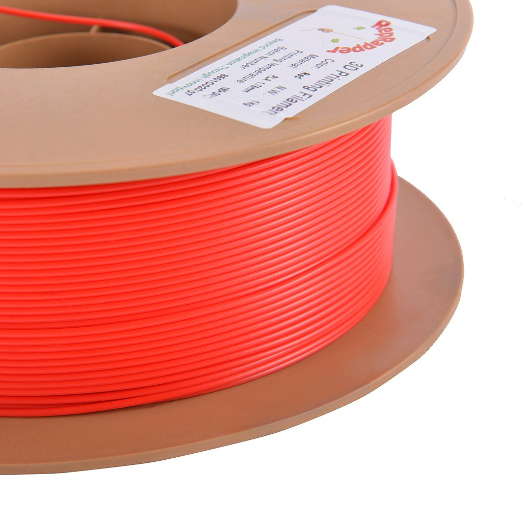RepRapper Red PLA 3D Printing Printer Filament 1.75 mm, Tangle Free, Modified Non-Brittle Formula, No Jamming, Dimensional Accuracy +/- 0.03 mm, 1kg Spool (2.2lbs), 340m (1115ft)