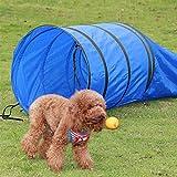 15' Pet Dog Training Agility Tunnel Puppy Obedience Tube Dark Blue