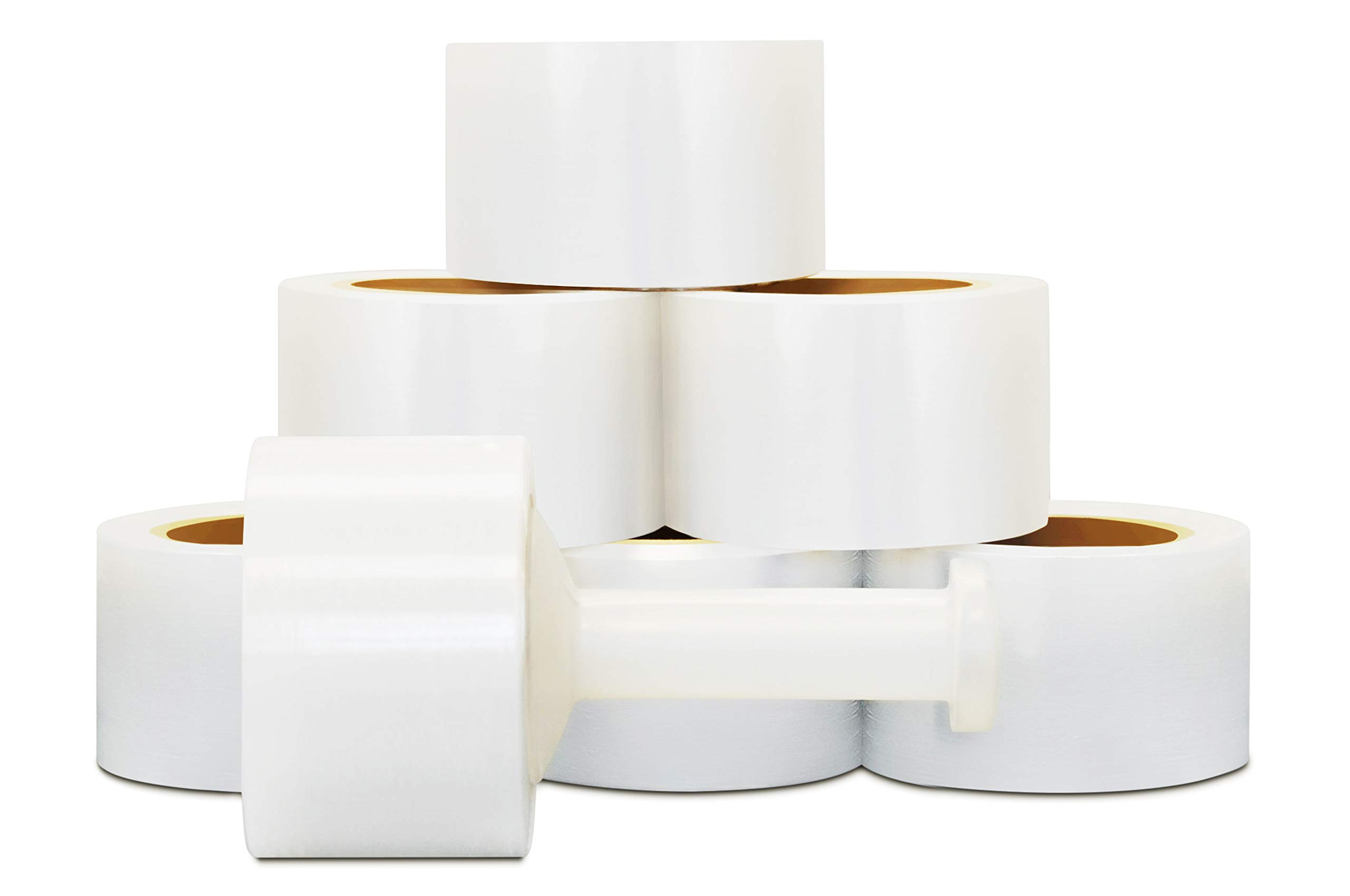 Cast Narrow Banding Stretch Wrap Film Self-Adhering 3 Inch x 1000 Feet x 80 Gauge 18 Rolls by PackagingSuppliesByMail