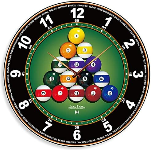 Sterling Noble Billiard Mirror Wall Clock
