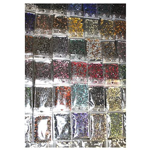 15000 Strass 8 couleurs 4 tailles 2/3/4/5 mm en verre hotfix Cristal Bling thermocollant
