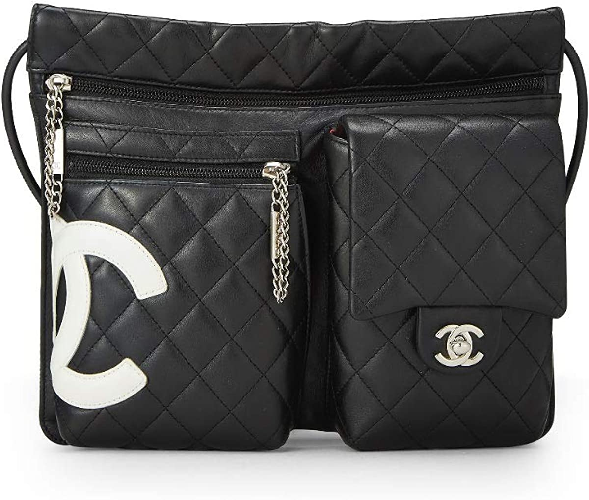 CHANEL Black Quilted Calfskin Cambon Ligne Shoulder Bag (Pre-Owned)