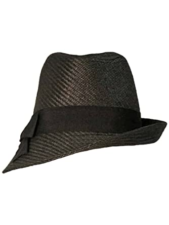 d7c4bb965022f Luxury Divas Black Fedora Hat With Slanted Brim