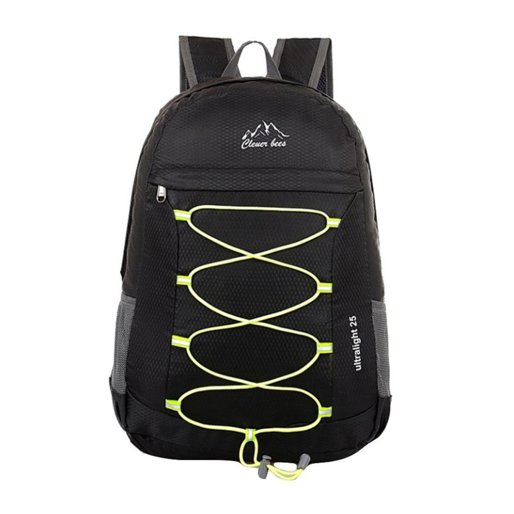 Aobiny packet Leisure Folding Travel Bag Mountaineering Backpack (Black)