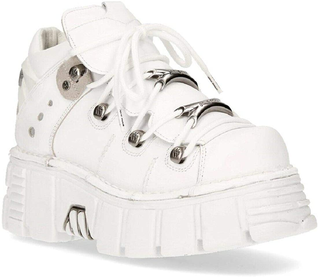 white platform trainers leather