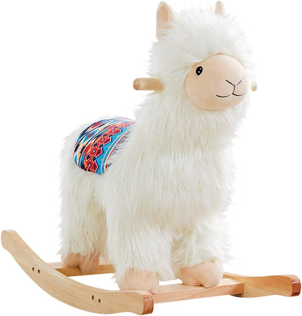 Jouet b/éb/é Cheval /à Bascule Lama Alpaca Abnehmbaren pour Enfants et b/éb/és 1 an et Jouets en Bois 55 cm YYSDH Cheval /à Bascule Chaise b/éb/é