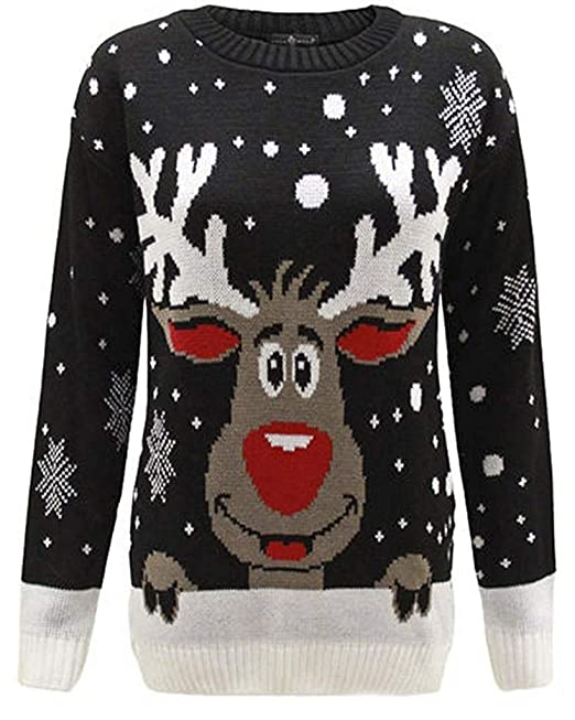 Christmas Top.New Unisex Kids Jumper Christmas Xmas Boys Girls Childrens Knitted Top Winter Novelty Sweater Reindeer Rudolph Age 3 12