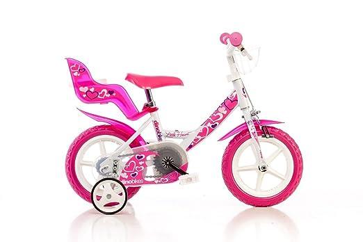 """17 opinioni per Dino Bikes 124RLN, Bicicletta per bambina, misura 12"""", Bianco/Rosa"""