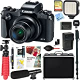 Canon PowerShot G1 X Mark III 24.2MP 3x Zoom Lens Digital Camera (Black) + 64GB Memory & Microphone Accessory Bundle