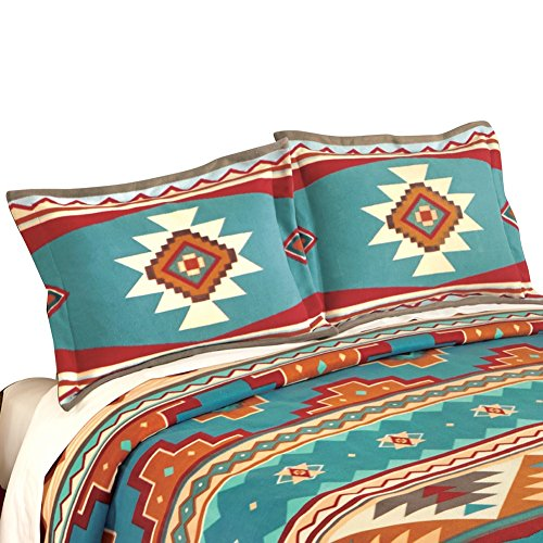 Southwest Cheyenne Aztec Fleece Pillow