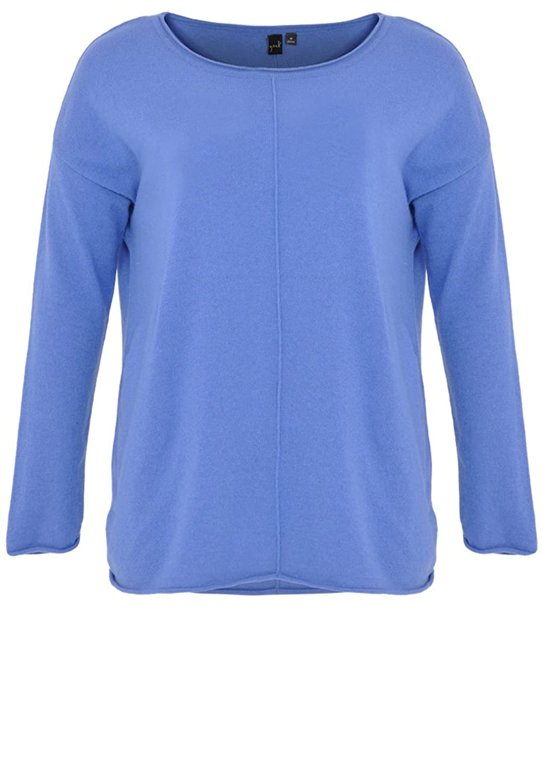 Yoek Damen Pullover Einfarbig mit cashmere Plus Size