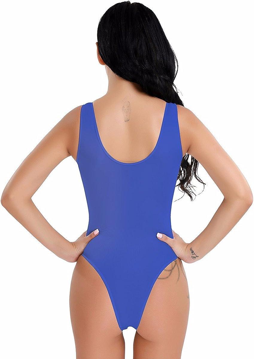 IEFIEL Body String Femme Maillot de Corps Combinaisons Transparent Extensible Confort Thong Leotard Bodysuit High Cut Body D/ébardeur sans Manche Femme