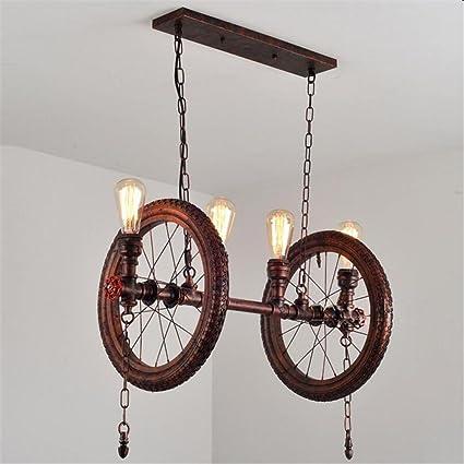 Atmko®Iluminación colgante Lámpara de techo retro grande Lámparas de techo Vintage Industrial LOFT Style