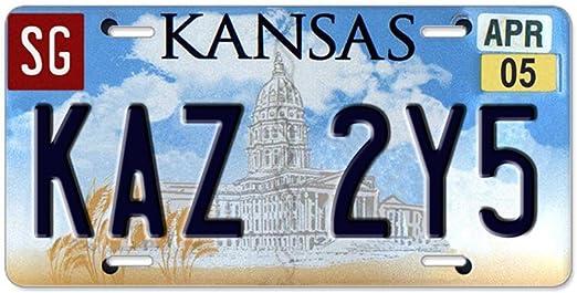 CafePress KAZ 2y5/Aluminium/ /Standard Multicolore de plaque dimmatriculation