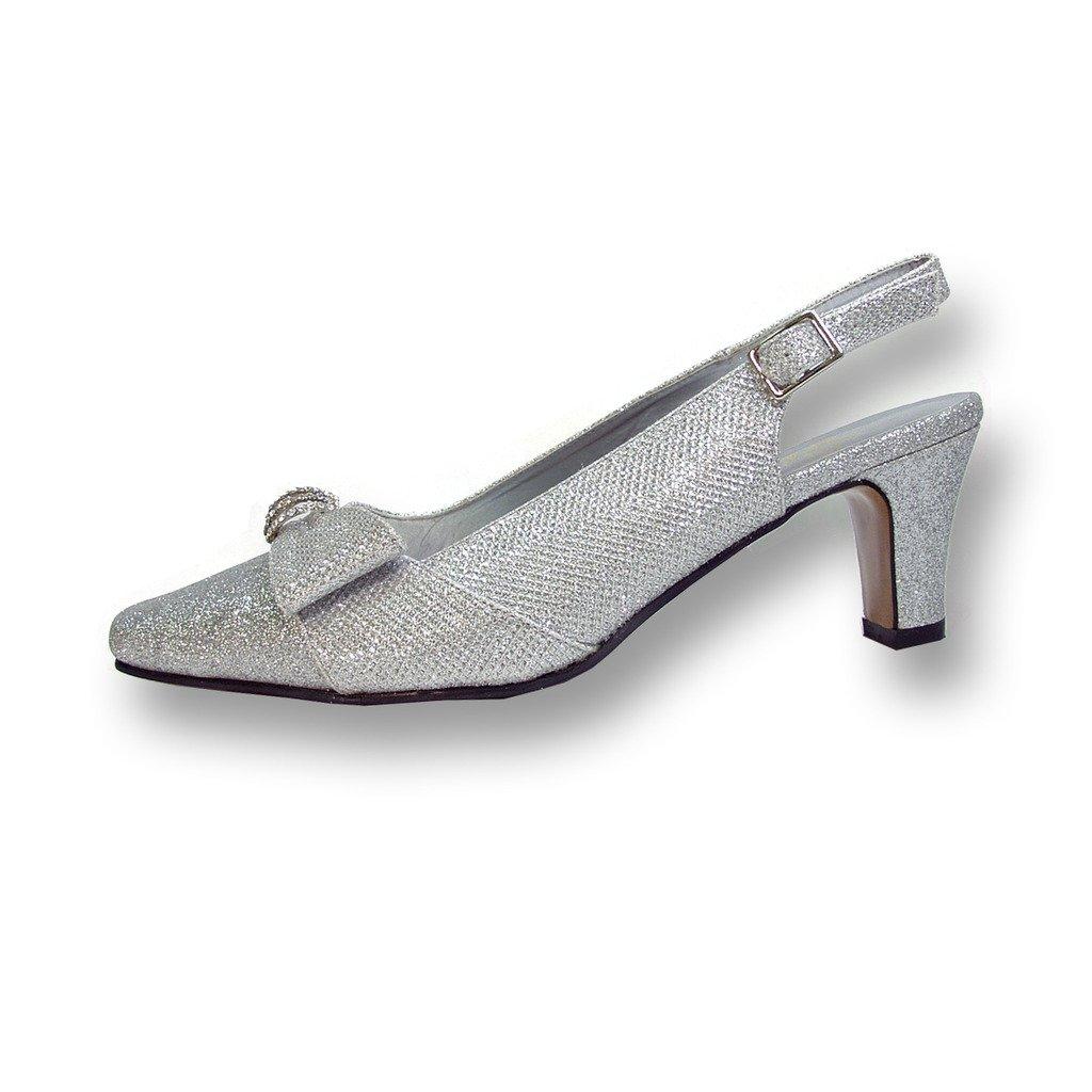 Floral Fic Emma Women Wide Width Evening Dress Shoe Shoe Dress For