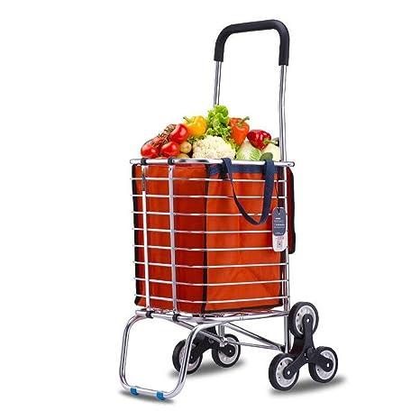 ZWW supermercado 8 rueda ligero resistente y peso ligero material de microfibra con ruedas carrito de