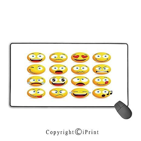 Amazon com : Waterproof mouse pad, Emoji, Smiley Faces