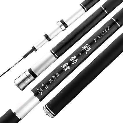 2.7M-7.2M Professional Glass Fiber Telescope Fishing Rod Spinning Pole