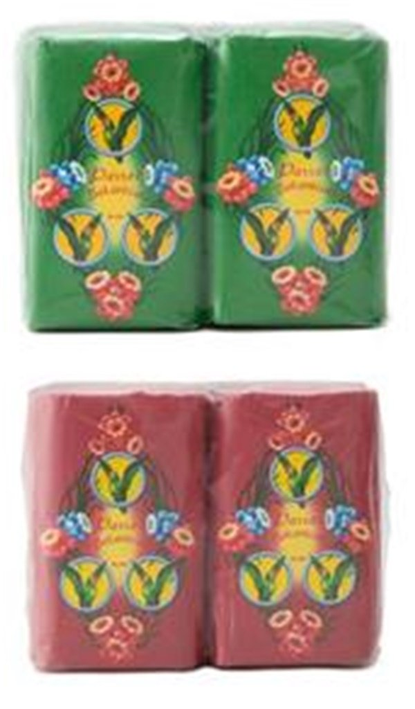 Pack of 2, Parrot Soap Botanica Green 110 G.(pack4)+parrot Soap Botanical Red 110 G.(pack4) Thailand